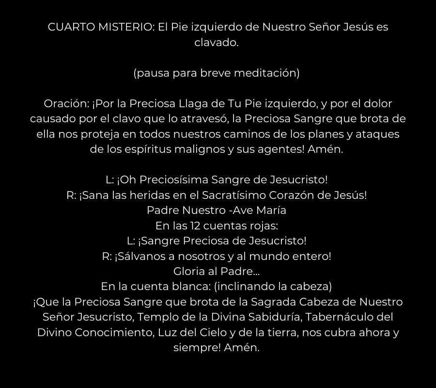 rosario de la sangre de cristo 12 cuentas